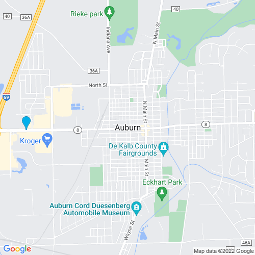 Map of Auburn, IN